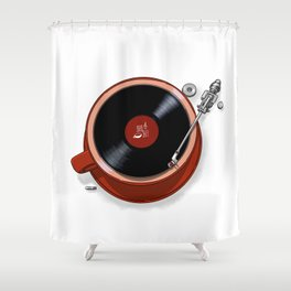 Java Jazz Shower Curtain