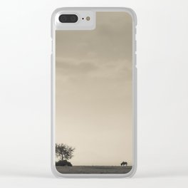 Lone Wildebeest grazing in South Africa Clear iPhone Case
