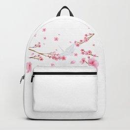 Cherry Blossom Crane Backpack