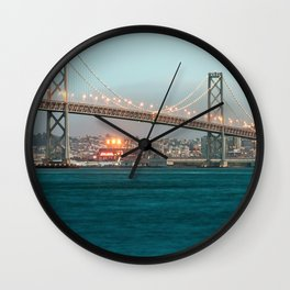 Bridge Architecture Water 4 Wall Clock