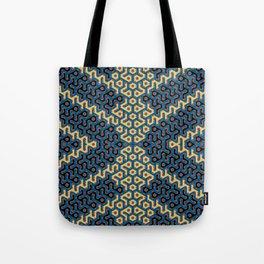 Squiggle Trails Most Awesome Yellow Red Blue and Black Tote Bag