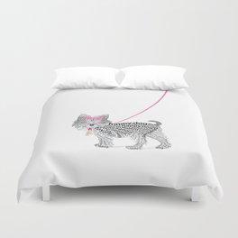 Typographic Yorkshire Terrier - Pink   #YorkshireTerrier #buyart Duvet Cover