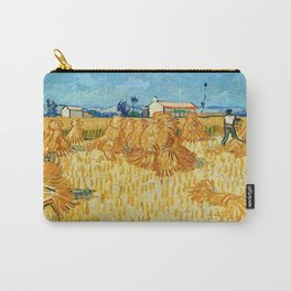 """Vincent Van Gogh """"Corn Harvest in Provence"""" Carry-All Pouch"""