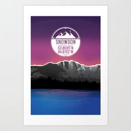 Snowdon [Three Peaks Series] Art Print
