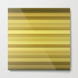Antique Rose Gold and Copper Jumbo Beach Stripes Metal Print