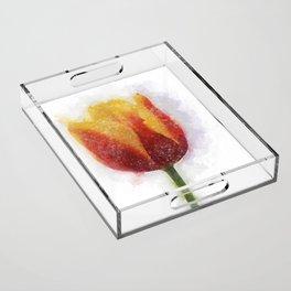 Tulip Painting Acrylic Tray