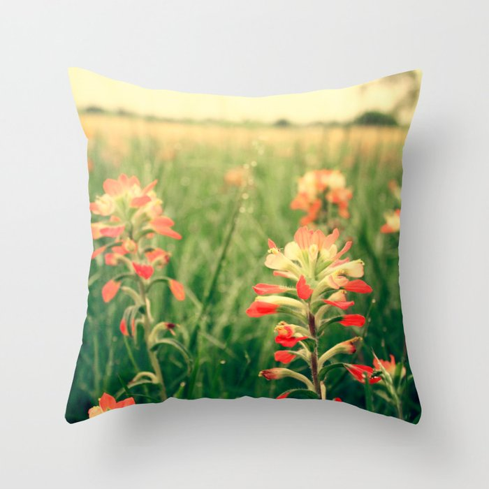 Wild flowers! Throw Pillow