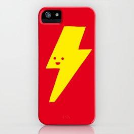 Super duper lightning bolt iPhone Case