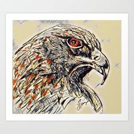 Eagle guide Art Print