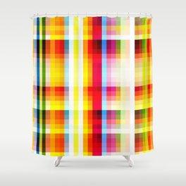 classic multicolored retro pattern Shower Curtain