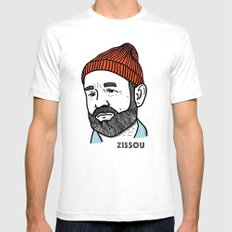 Zissou White Mens Fitted Tee LARGE