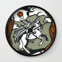 The Headless Horseman Illustration Wall Clock