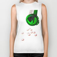 pills Biker Tanks featuring pills by Dusty Snowman