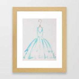 The Turquoise Dress Framed Art Print