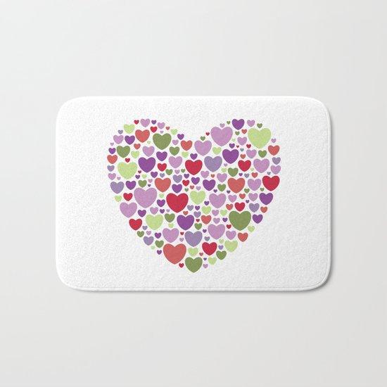 Colourful Hearts Bath Mat