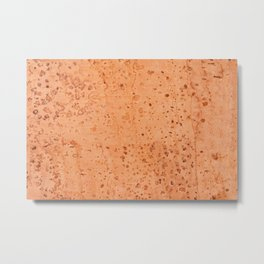 Brown cork mottled sheet texture Metal Print