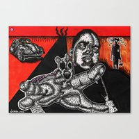 biggie Canvas Prints featuring BIGGIE  by NICHOLAS PRICE ART PRINTS
