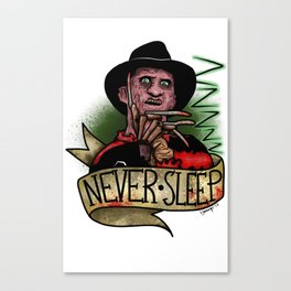 Never Sleep Canvas Print