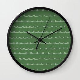 Evergreen Curlicues Wall Clock