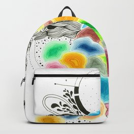 Geodesic world Backpack