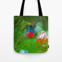 Hummingbird with iridescent colours Tote Bag