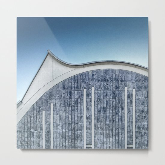 Architecture blue Metal Print