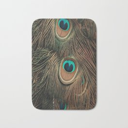 Peacock feathers abstract II Bath Mat