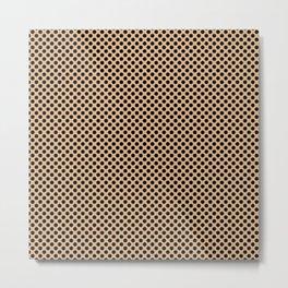 Desert Mist and Black Polka Dots Metal Print