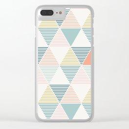 Modern Geometric Clear iPhone Case