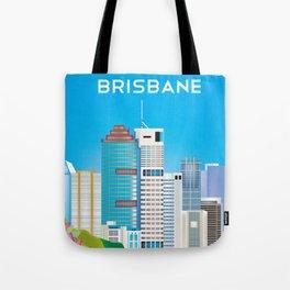 Brisbane, Australia - Skyline Illustration by Loose Petals Tote Bag