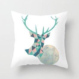 I'd rather be a deer Throw Pillow