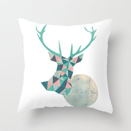I'd rather be a deer Throw Pillow