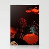 dave grohl Stationery Cards featuring dave grohl by Hattie Trott