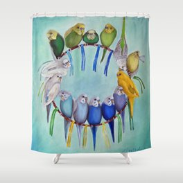 Joycatcher Shower Curtain