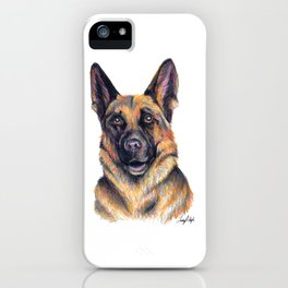 German Shepard - Dog Portrait iPhone Case