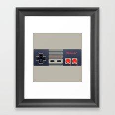 Nintendo Controller Framed Art Print