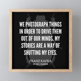 41 |  Franz Kafka Quotes | 190517 Framed Mini Art Print