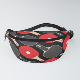 Ping Pong / Table Tennis Pattern (Black) Fanny Pack