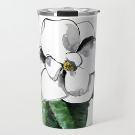 White magnolia Travel Mug