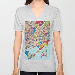 Toronto Street Map Unisex V-Neck