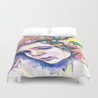 poison ivy Duvet Covers featuring Poison Ivy by Lauralouisa