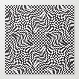 Checkered Warp Canvas Print