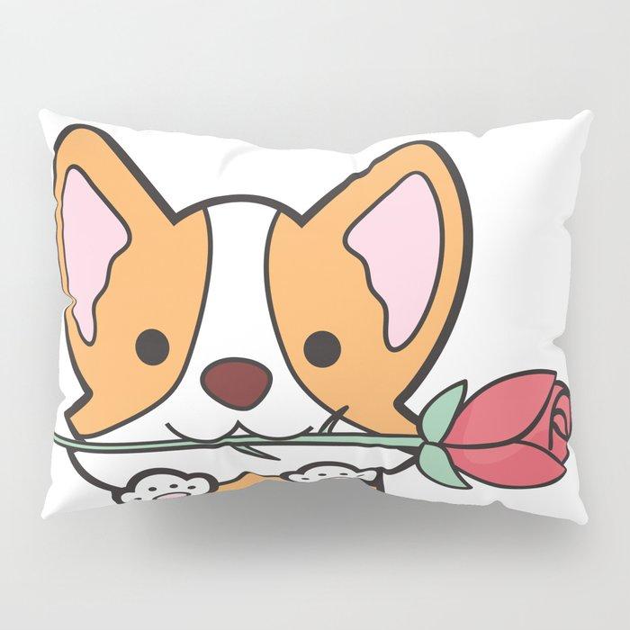 Valentine's Day Corgi Pillow Sham