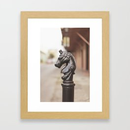 New Orleans Hitching Post #3 Framed Art Print