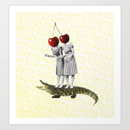 Kirsch girls Art Print