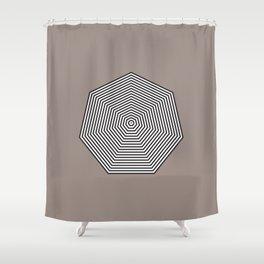 Basic geometry: heptagon Shower Curtain