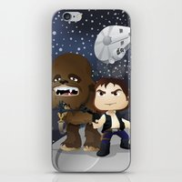 han solo iPhone & iPod Skins featuring Han Solo & Chewbacca by 7pk2 online