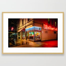 Late Night Espresso Framed Art Print