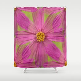 Endless Pink Cosmos Shower Curtain