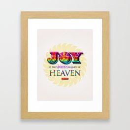 Serious Joy Framed Art Print